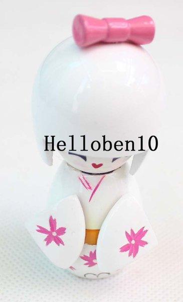 beyaz bebek Koleksiyon Japon Çiçek ahşap Kokeshi Bebekler sevimli kız