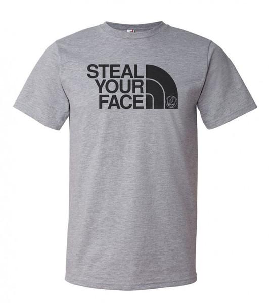 Grateful Dead Jerry Garcia Gray T- Impreso en los EE. UU. Mens 2018 marca de moda Camiseta O-cuello 100% algodón Camiseta Tops Tee personalizado