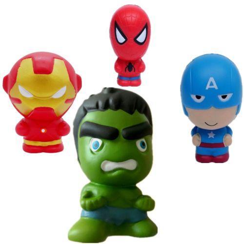 Compre Spiderman Hot Squishy Vingadores Marvel Heros Capitão América Dos Desenhos Animados Charme Squeeze Lento Rising Homem De Ferro O Hulk Squishies