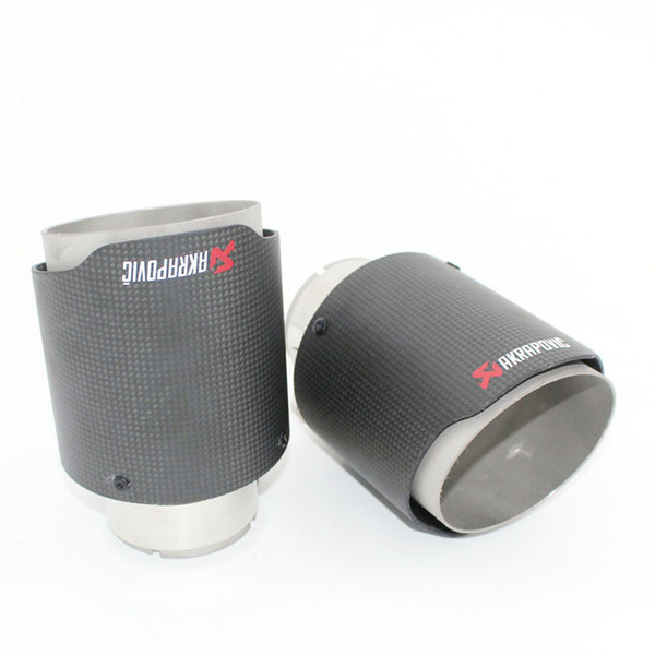 universal various sizes akrapovic carbon fibre car exhaust muffler tip straight Dumb face parallel Auti Parts Exhaust System