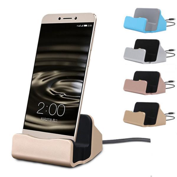 Universal Cradle Charger Docking Station Ladegeräte Schnellladestation Typ C Für Samsung S6 S7 Edge Note 5 Mit Retail Box