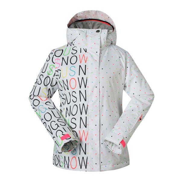 GSOU SNOW Outdoor Ladies Skiing Suit Winter Waterproof Windproof Warm Wear-resistant Ski Jacket Snow Coat For Women Size XS-L