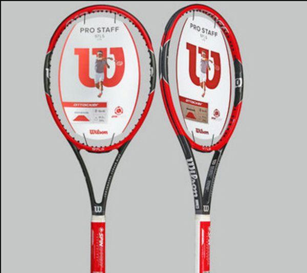 Karbon Fiber Tenis Raketi Raket Çanta Tenis Grip ile donatılmış racchetta da Tenis Pro Personel RF 97 LS Roger Federer