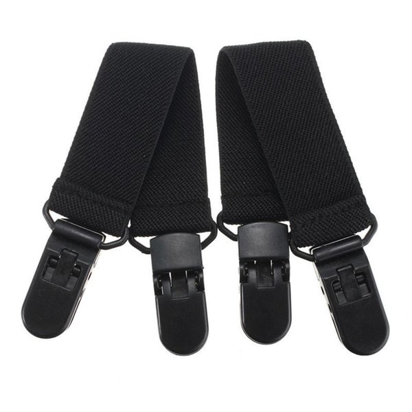 2Pcs Pants Clips Stirrups Adjustable Elastic Motorcycle Bike Leg Boot Straps Plastic Polyester-cotton Material Boot Clips