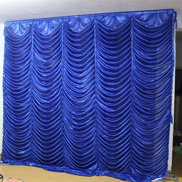 3m 3m wave backdrop party water ripple background valance wedding backcloth tage curtain 10ft 10ft