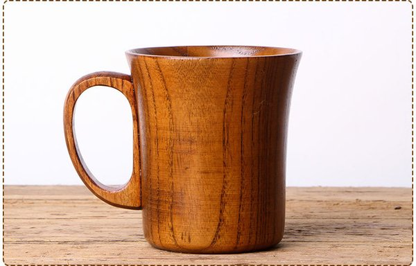 Портативный натуральное дерево чашка с ручкой деревянная чашка кофе пиво сок кружка для питья посуда кухня бар аксессуары