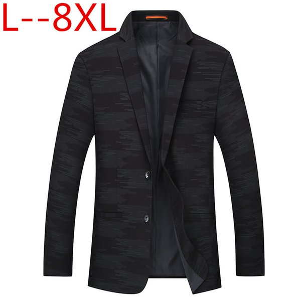 8XL 6XL 5XL 2018 spring Fashion Mens Blazer Commerce Casual Slim Fit Prom Dress Blazer Men Stage Wear Blazers Male Suit Jacket