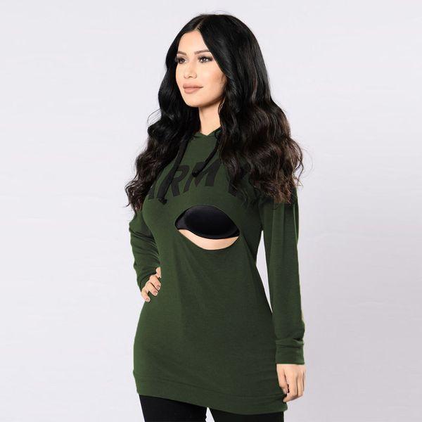 Personal Ladies Letter Print T Shirt Hooded Burn Out T-Shirt Women Long Sleeve Autumn Tops Vetement Femme Tshirt Plus Size De Mujer