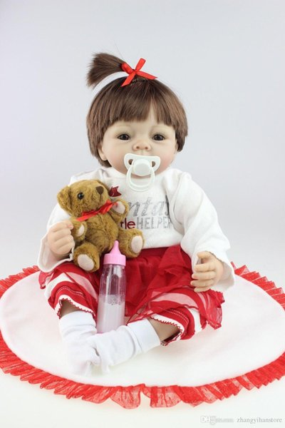 2015 NEW hot sale lifelike reborn baby doll rooted human hair fashion doll Christmas gift old gift