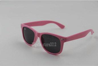 pink frame black lens