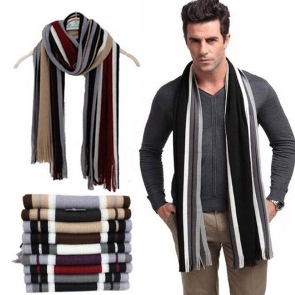 Compre De Diseño Bufanda Para Rayas Con Hombres Algodón ZCpfZq