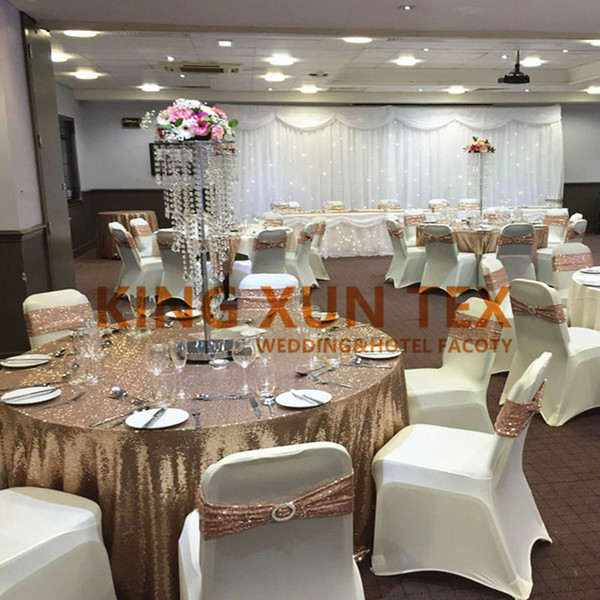 Rose Gold Sequin Chair Band Chair Sash With Buckle For Spandex Chair Cover Decoration Rental Chair Covers Wedding Chair Covers Rental From