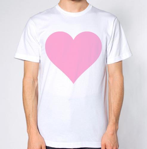 Coração cor-de-rosa do amor camiseta