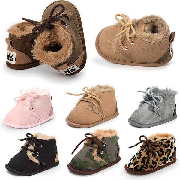 top popular 7 colours Baby Autumn Winter boots Super Keep Warm Boots shoes Newborn Infant Toddler First Walkers boot Kids 2019