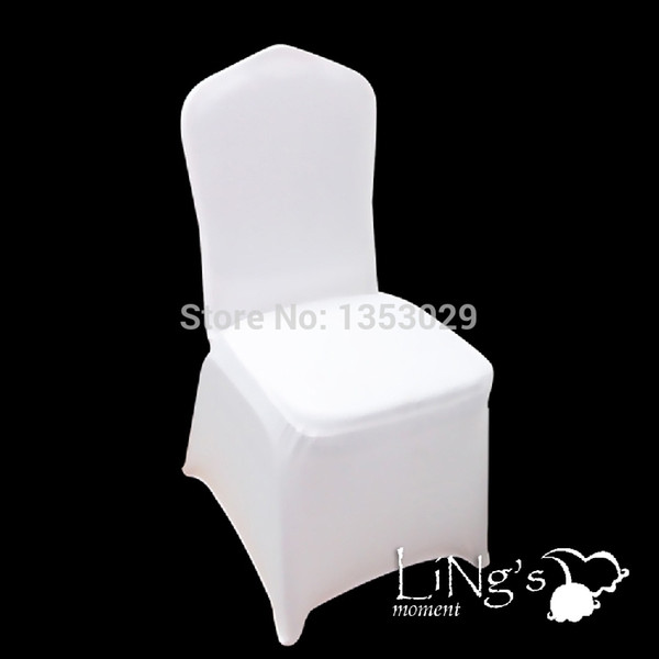 Surprising Wholesale High Quality White Covers Spandex Lycra Chair Cover Wedding Banquet Strech Seat Cover Party Hotel Chair Decoration Dining Chairs Covers For Andrewgaddart Wooden Chair Designs For Living Room Andrewgaddartcom