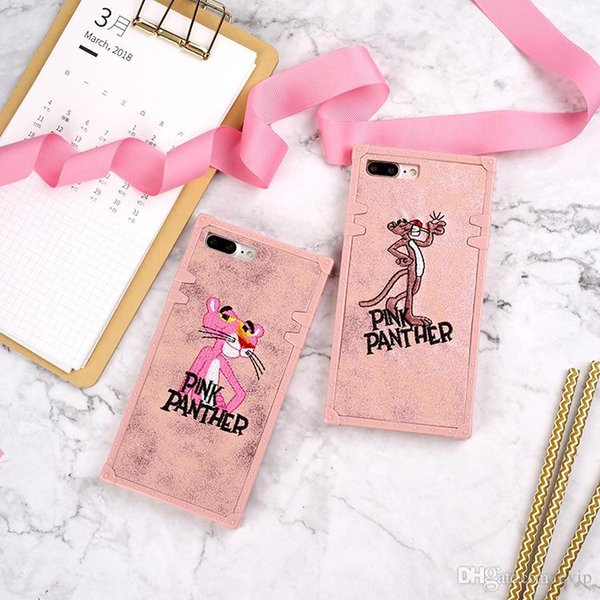 HOT sell Cute pink panthers phone case handmade panther waterproof and shockproof covers for iphone high quality case wholesales price