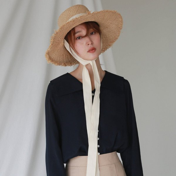 2018 Brand New Style Bind Straw Hat For Ladies Korean Sun Protection Hats Elegant and Breathable