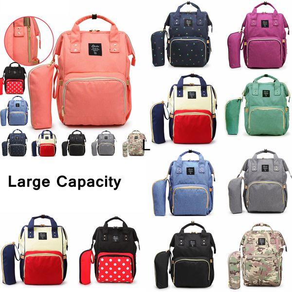 top popular 10 Styles Nappies Diaper Bags Mommy Backpacks Pack Camo Waterproof Maternity Handbags Mother Backpacks Nursing Travel Outdoor Bags AAA786 2021