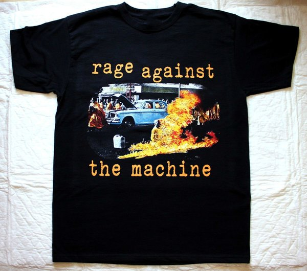 RAGE AGAINST THE MACHINE RATM'92 AUDIOSLAVE LOCK UP CLAWFINGER BLACK T-SHIRT Men'S Fashion Black Cotton Round Neck Men Top Tee
