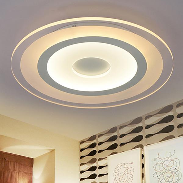 Eusolis 110 220 v Acrílico Luces Led para el hogar Luces Led Para Casas Aydinlatma Iluminacion Moderno Lámpara de Techo de Cristal Lamparas 38