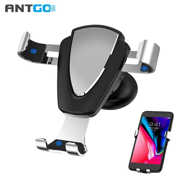 Universal Gravity Car Holder For iPhone XS Max XR X 8 7 6 Plus Phone Stand in Car Air Vent Mount Holder Auto Lock Phone Bracket