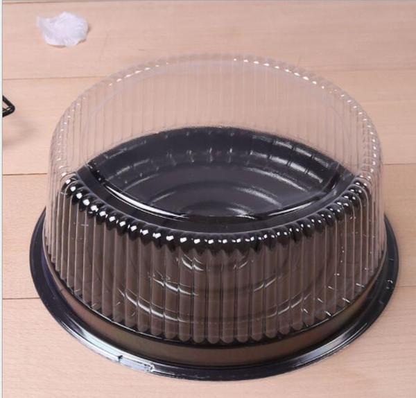 100 pcs grande rodada caixa de bolo / 8 polegadas caixa de queijo / claro recipiente do bolo de plástico titular do bolo de casamento do partido