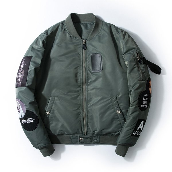 Hetobeto High Quality Leather Jacket Men New Brand Autumn Designer Fashion Stand Collar PU Motocycle Jackets Green Flying Pilot
