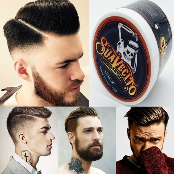 Suavecito Stereotypes wax hair wax hair color cream men hair gel strong modelling finalize the gray/white mud oil