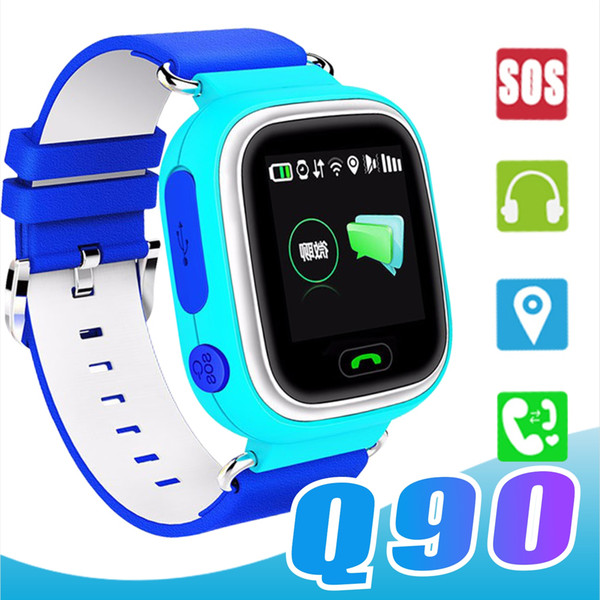 Q90 Kids Bluetooth Smartwatch Smart Watch for Child apple iPhone Android Smart Phone with GPS Tracker WiFi LBS Wearable Device PK Q50 Q60