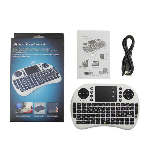 Mini Rii i8 Teclado Sem Fio 2.4G Inglês Air Mouse Teclado Touchpad Controle Remoto para Smart Box TV Android Tablet Pc
