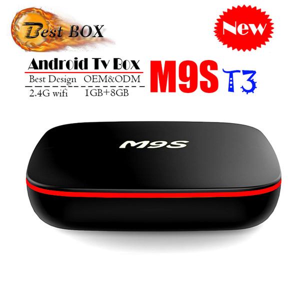 2018 Ucuz M9S T3 Android 7.1 Tv Kutusu Quad Core 1 GB 8 GB H3 Çip Destek Wifi 4 K 3D Media Player Akıllı Tv Kutusu Daha Iyi TX2 MXQ PRO M96X S8