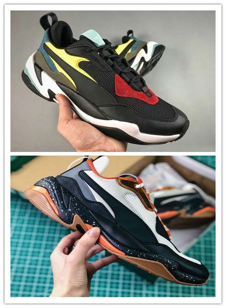 2018 High Quality Old Genuine Leather Casual Old Dad Shoes Originals Thunder Spectra Breathable Genuine Leather Running Sneakers