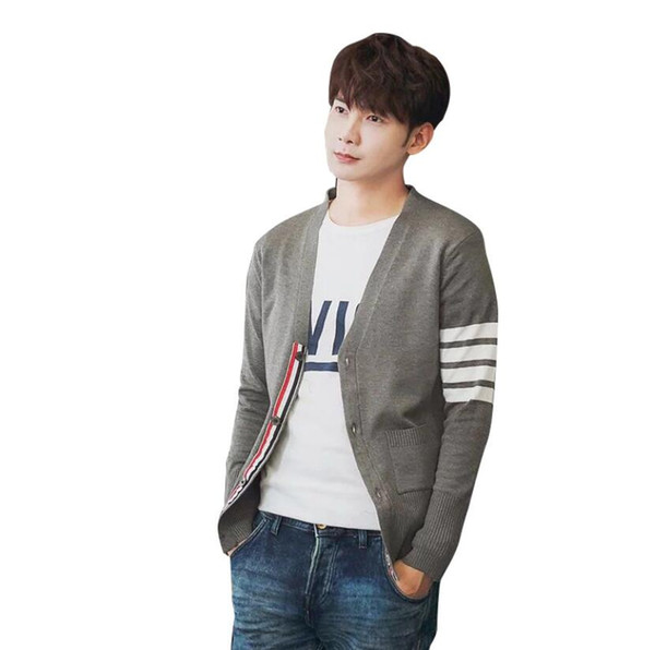 Autumn Star Same Fashion Sweater Designer Casual Sweater For Men and Women V-neck Cardigan Colorblock Sweater