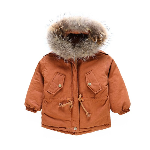 Boy/'s Childrens Tweed Coat for Ages 2-10 Years Fleece Lining Winter Jacket