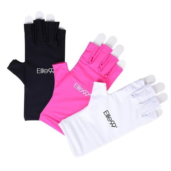 Elite99 Anti UV Handschuhe UV Shield Handschuh Fingerlose Maniküre Nail Art Werkzeuge LED UV Lampe Nagel Trockner Strahlenschutz