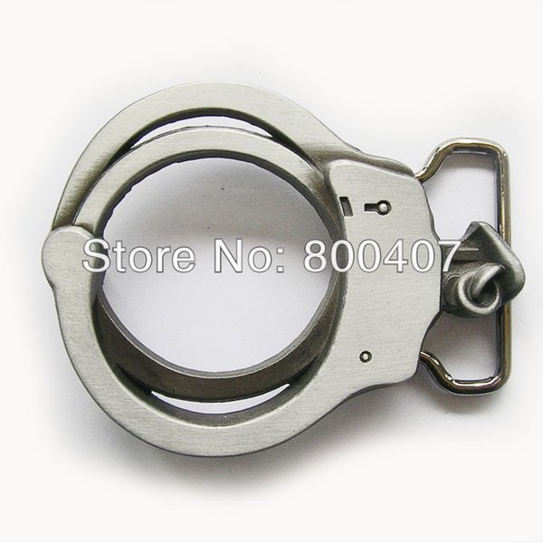 Retail Distribute 3D Handcuffs Shape Belt Buckle (Not Real Handcuffs) BUCKLE-3D054 Free Shipping