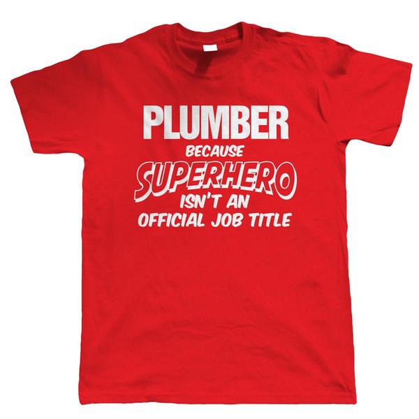 Plumber Superhero, Mens Funny T-Shirt - Gift for Dad Him Birthday
