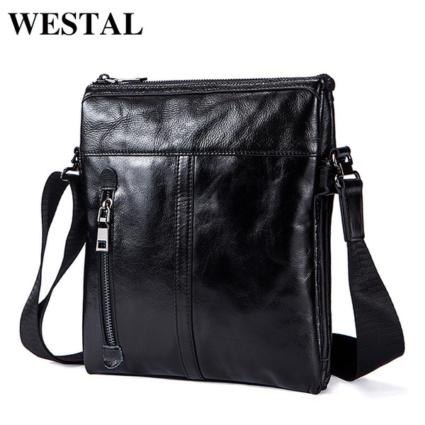 WESTAL Messenger Bag Mens Genuine Leather shoulder bag for men leather fashion Small Flap male Crossbody Bags handbags 1023 S914