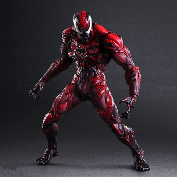 Spiderman Christmas.2019 New Hot 28cm Spider Man Carnage Enhanced Version Action Figure Toys Doll Spiderman Christmas Gift From Springsnows 88 45 Dhgate Com