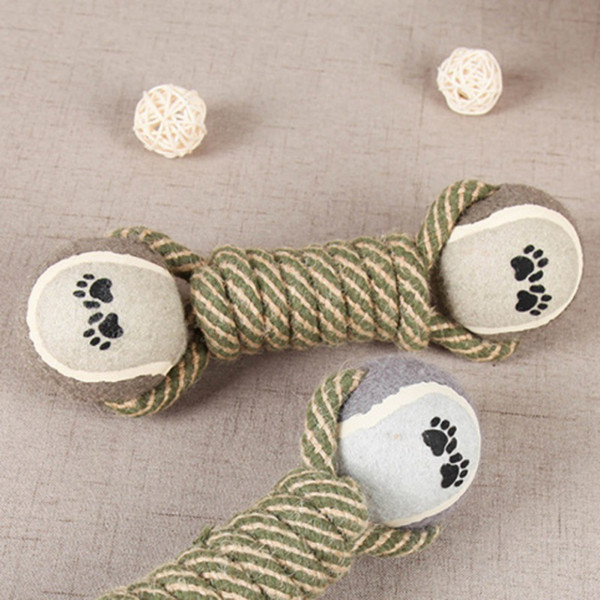 best selling Pet Chew Toys for Dog Puppy Teeth Cleaning Training Products Pet Supplies Cotton rope tennis toy molar dog toy ball