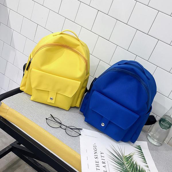 Fashion Backpack Women Canvas Backpack Simple School Student Back Pack Female Backpacks Rucksack Mochila Shoulder Bags for Girls