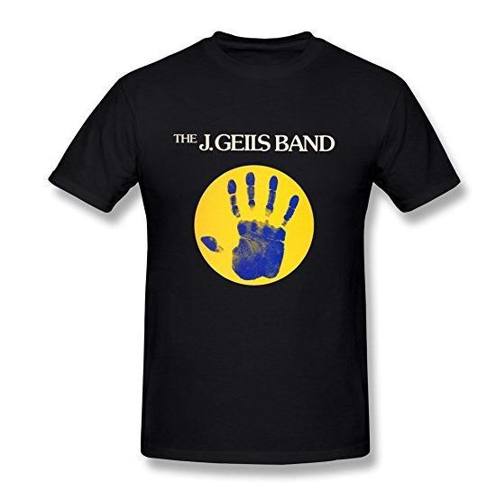 Men's The J. Geils Band Sanctuary T-Shirt Black Classic Cotton Men Round Collar Short Sleeve Male Best Selling T Shirt