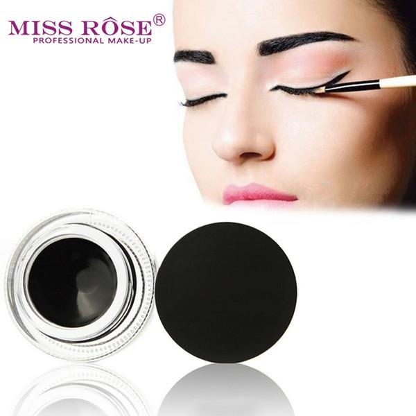 Eyeliner Gel Cream Black Eye Liner with Brush Makeup Long-lasting Natural Cosmetics for Music Flower Waterproof Eyeliner