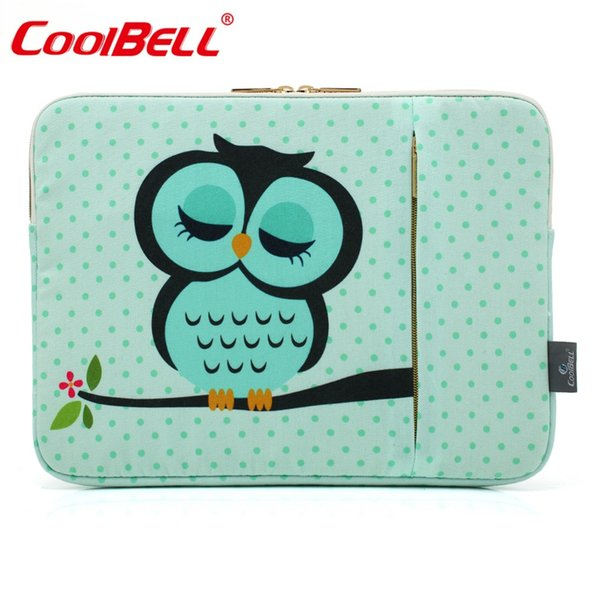 Hot Sale CoolBell 11.6 12.9 13.3 15.6 Inch Women Laptop Sleeve Case Cover With Cute Owl Pattern Laptop Sleeve For Macbook Pro