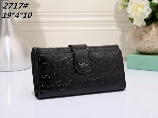 Sıcak! Toptan 2018 ünlü marka moda tek fermuar ucuz lüks tasarımcı kadın pu deri cüzdan bayan bayanlar uzun çanta 2717