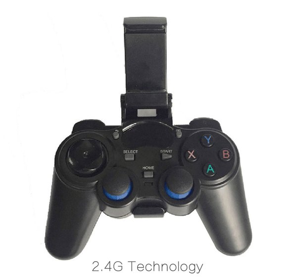 1pcs by Post 2.4G Wireless Game Controller Gamepad Joystick mini keyboard remoter for universal TV box and Smartphone GR1 w/phone supporter