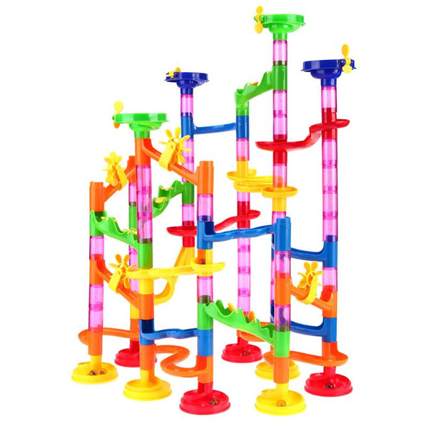 105pcs/set Marble Run Tunnel Blocks Toy Kids Marble Race Run Maze Balls Track DIY Assembly Blocks for Children Educational Toy