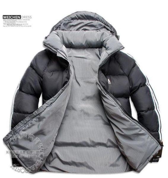 Avoir LOGO !! Nouvelle mode vente chaude nouvelle conception hommes vers le bas veste hommes hiver manteau extérieur manteaux vêtements jaqueta