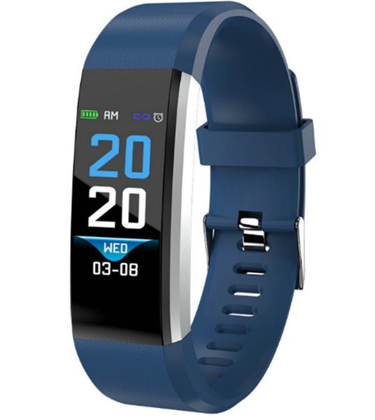 Lcd creen id115 plu mart bracelet fitne tracker pedometer watch band heart rate blood pre ure monitor mart wri tband