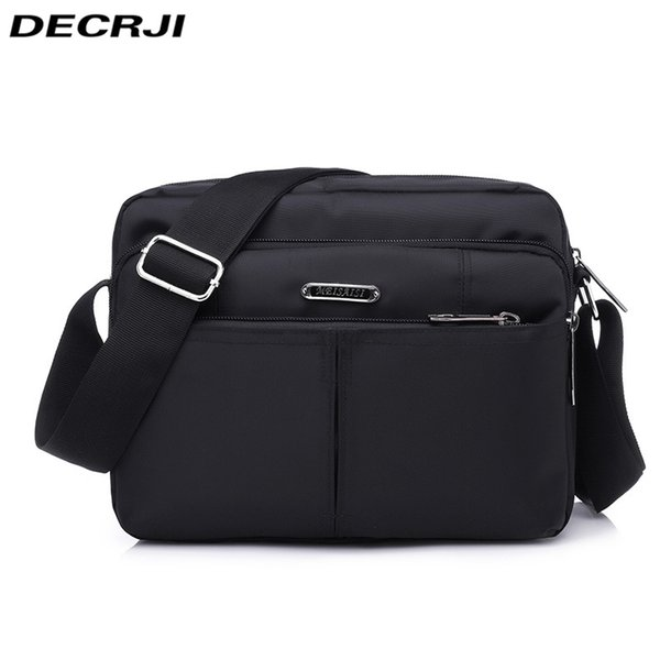 DECRJI 2018 Fashion Men Nylon Messenger Bag Waterproof Style Male Shoulder  Crossbody Bags Designer High Quality f58edf82a571e